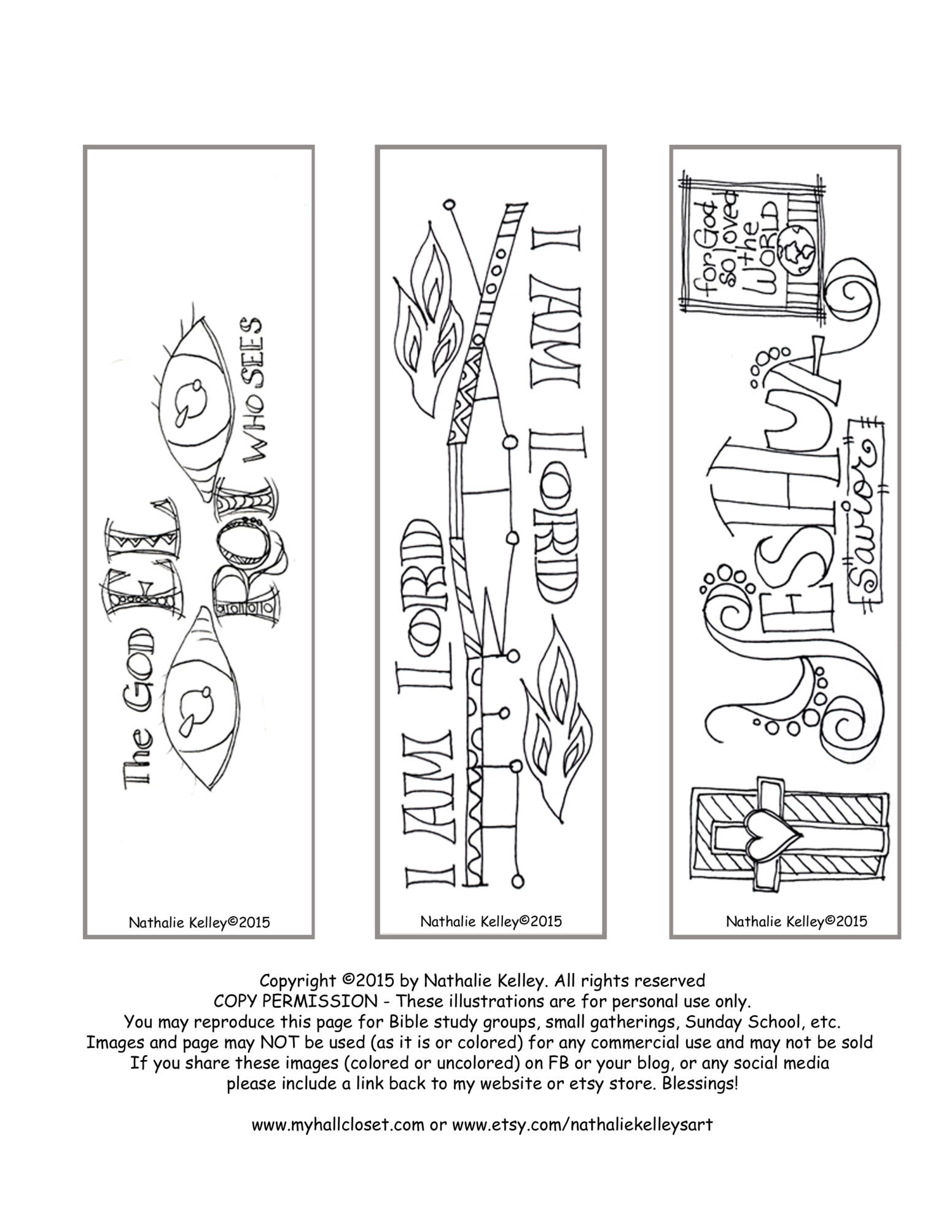 Names of God Bookmarks