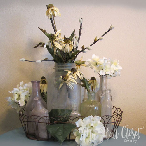 Glass bottles arrangement