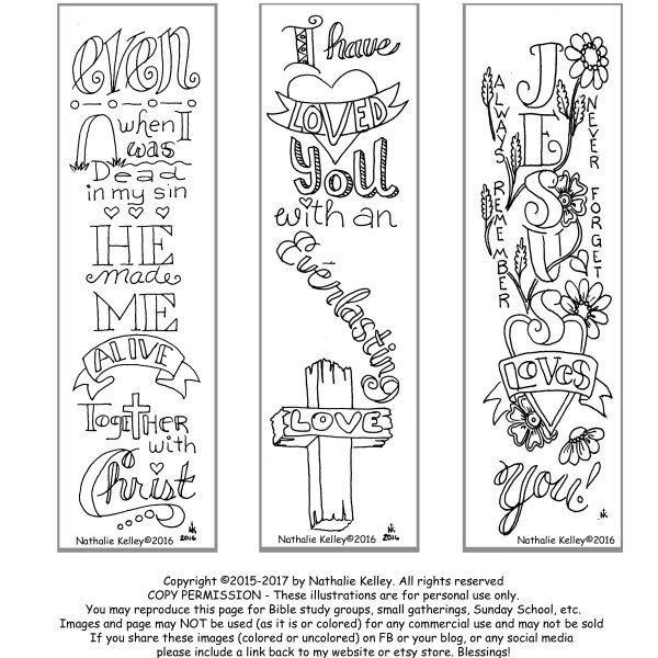 Bookmarks Jesus Loves You