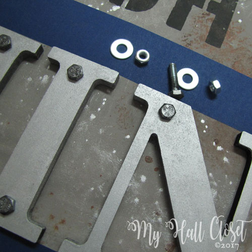 for a real Industrial Look Art piece use real nuts and bolts