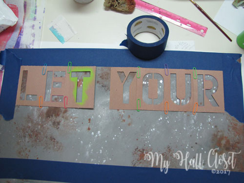 Industrial Look sign stencil layout