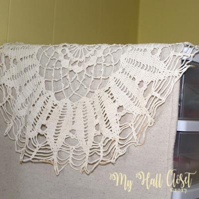 drop cloth and crochet