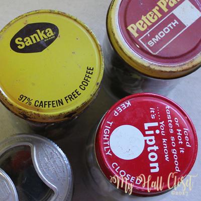 Old jar lids