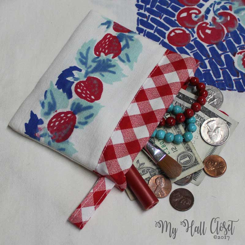 Scrappy Snappy Bag Tutorial Using Vintage Table Linens