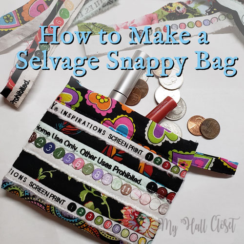 Selvage Snap Bag Tutorial My Hall Close