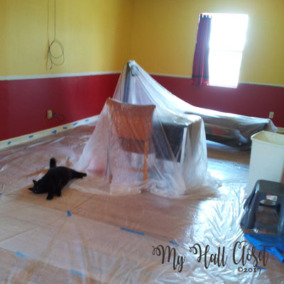 Stephens room all covered