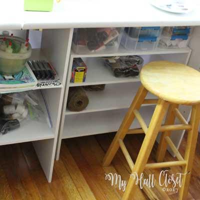 shelves for mixed media art supplies