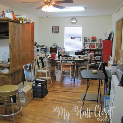 My Creative Space, A Very Cluttered Art Studio