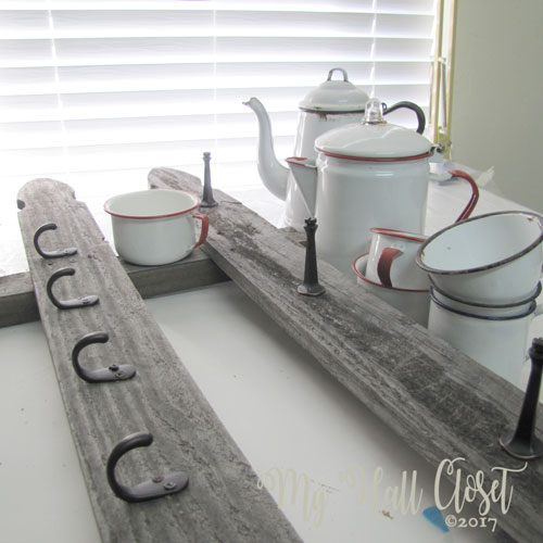 Rustic coffee cup rack finished