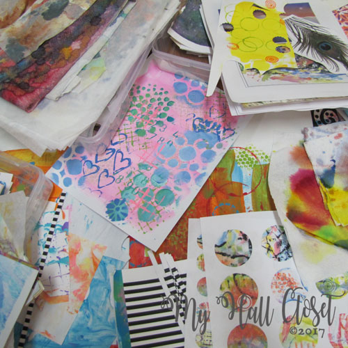 De-cluttering and Organizing My Mixed Media Papers Stash