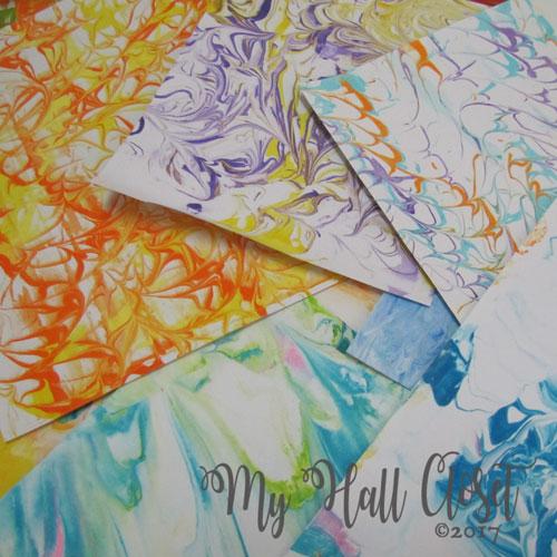 Marbled paper stash