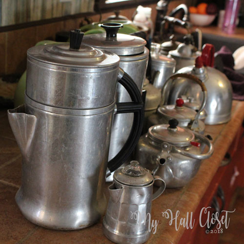 Aluminum Pots Collection moved to kitchen