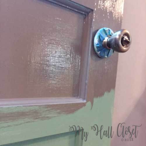 When painting a door, loosen the doorknob and tape