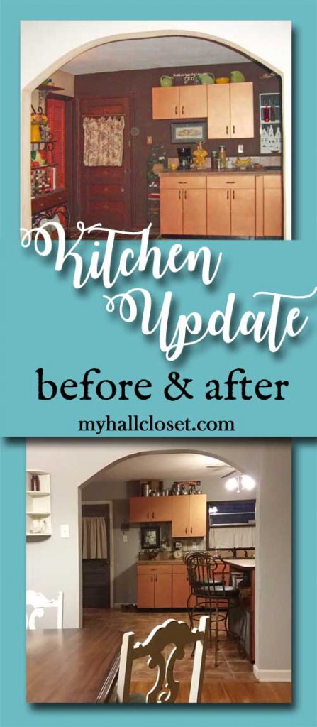 Kitchen update before and after