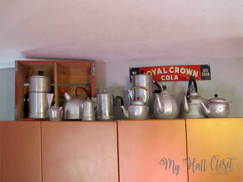Collection of aluminum pots