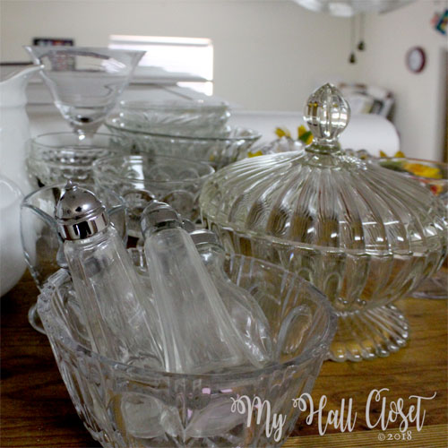 Glass dish collection clutter and collections
