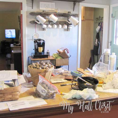 Kitchen renovation and rustic mug rack
