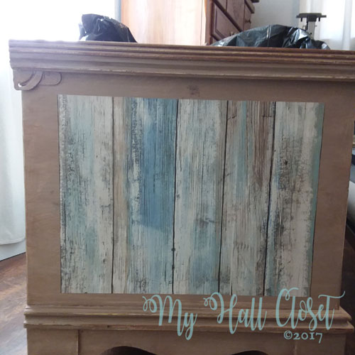 removable peel and stick wallpaper. The sideview of the chest