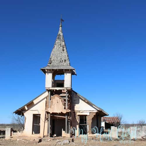 Old abandoned church at Forsan