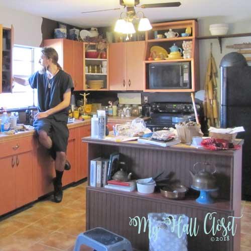 kitchen island before