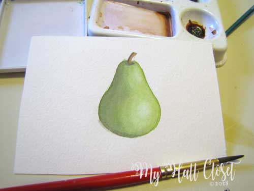Pear and shadow added light
