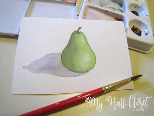 Pear and cast shadow