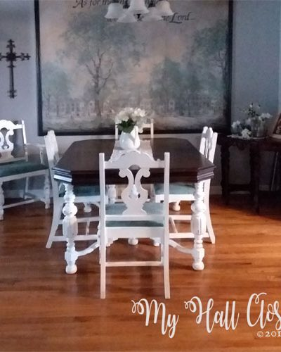 Dining Room Table redo after