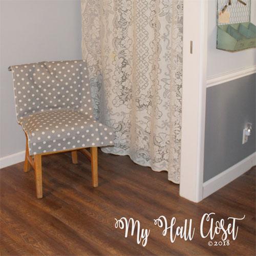 Gray polka dot grey walls