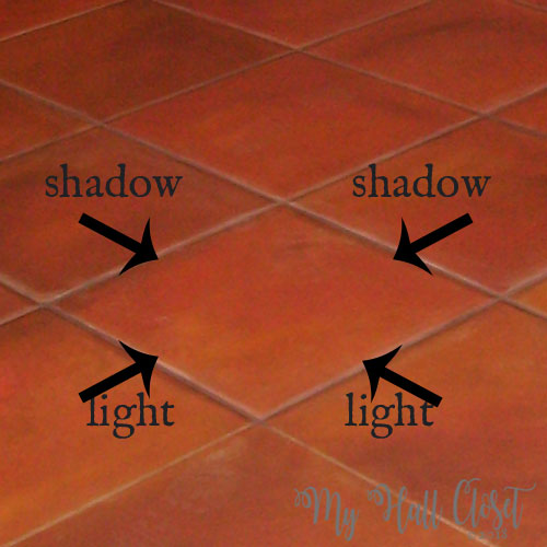Create Faux tile effect add shadows and highlights