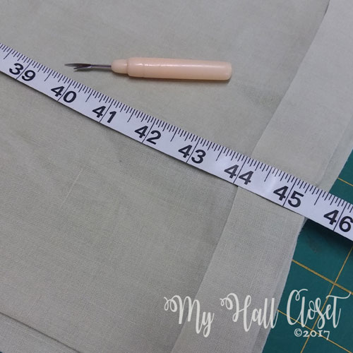 To alter pants with a cuff - measure length first