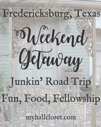 Weekend Getaway Fredericksburg Texas Junkin' road trip
