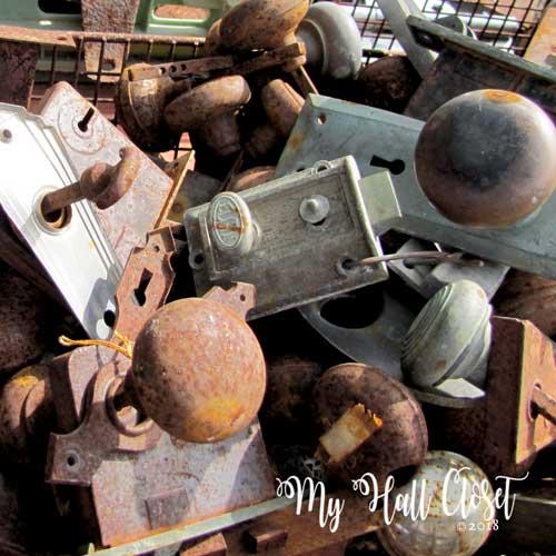 rusty vintage doorknobs