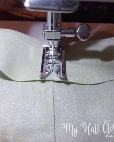 stitch cuff in place