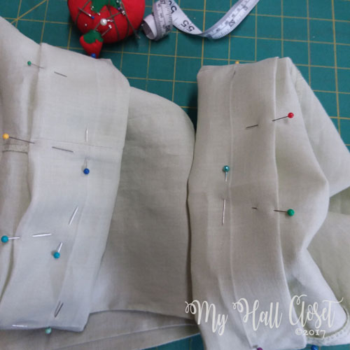 ready to hem pants with a cuff