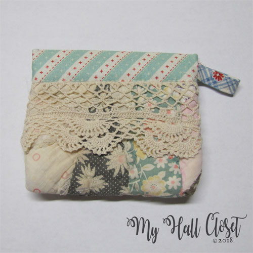 quilt snappy bag multi crochet edging