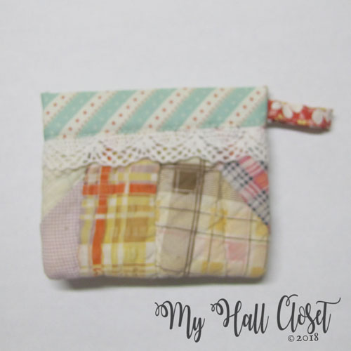 vintage quilt snappy bag multi-colored