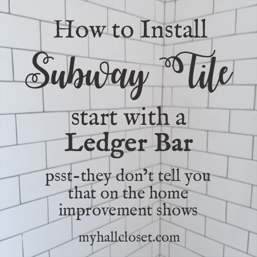 How to install subway tile and ledger bar