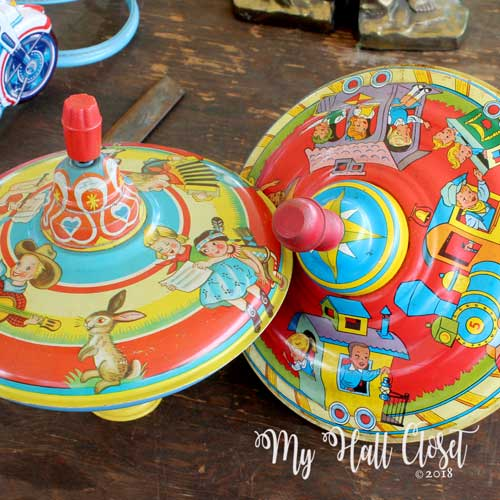 Vintage toy tops