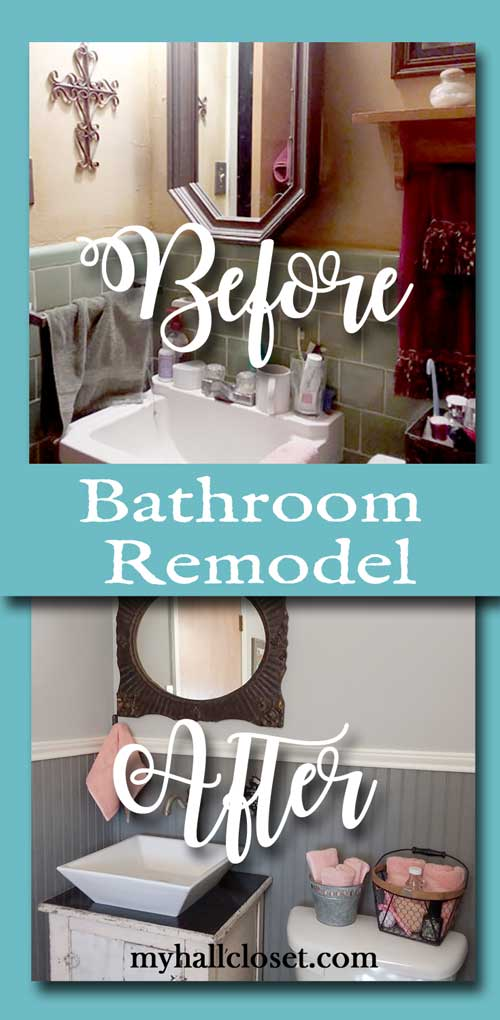 Before-and and after bathroom remodel