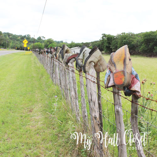 Highway 39 boots on barb wire