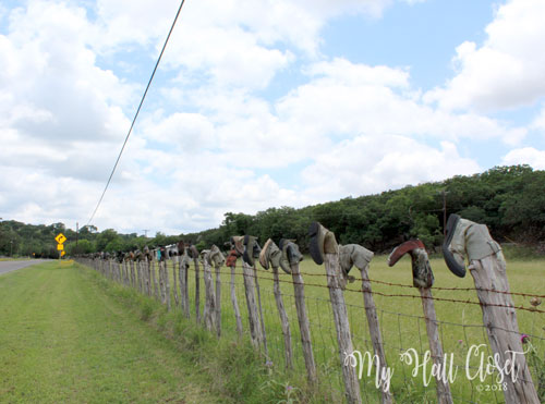 Highway 39 boot fence