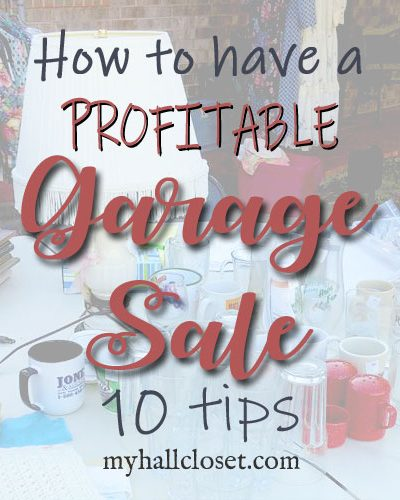 how to have a profitable garage sale