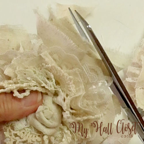 How to make a shabby flower 21