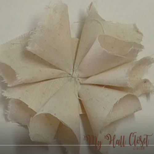 How to make a shabby flower tutorial 6