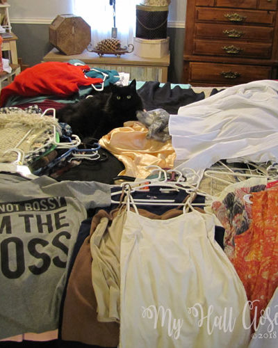 closet cleanout challenge stacks