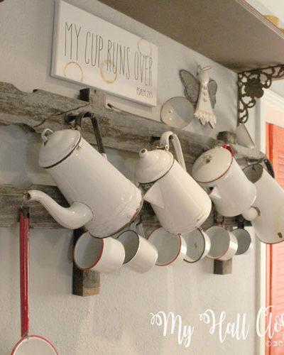 Rustic coffee rack DIY