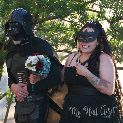 His Lady and her father as Darth Vader May the 4th wedding