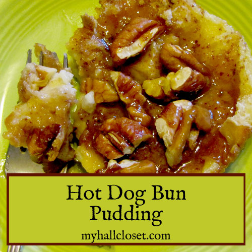 Hot Dog Bun Pudding Recipe