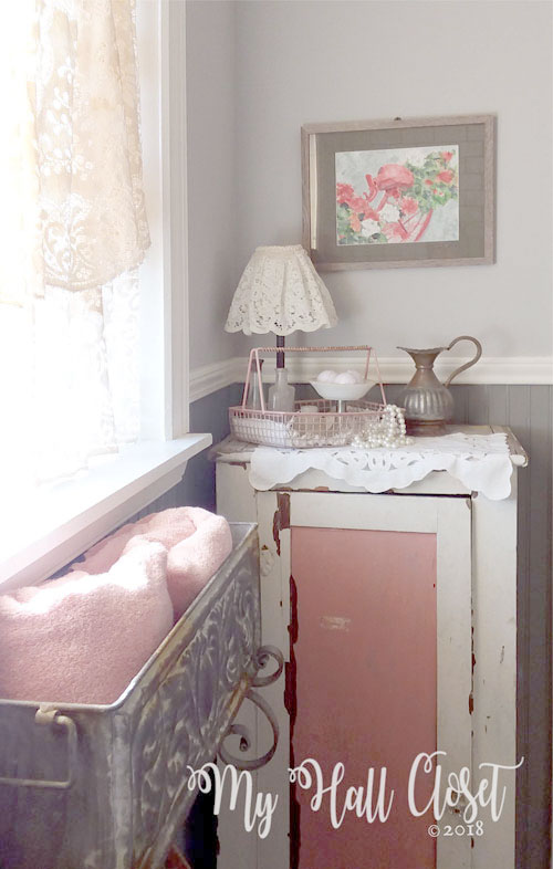 chippy pink cabinet