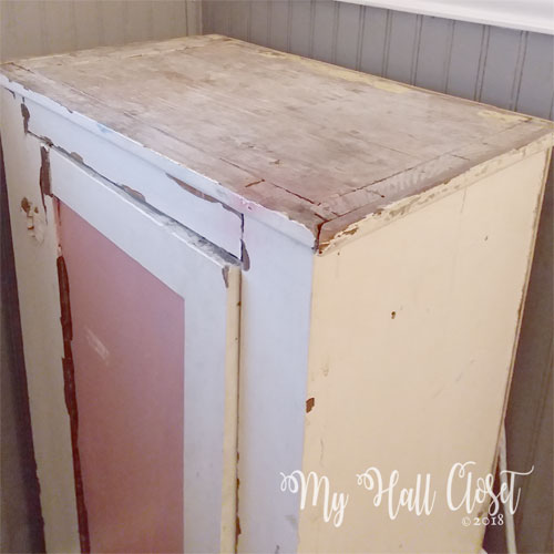 pink chippy cabinet